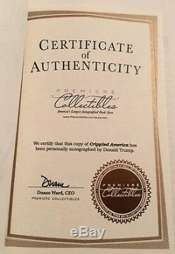 PRESIDENT Donald Trump Signed Crippled America #63 Low Number Numbered Authentic