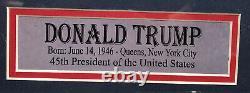 PSA/DNA President DONALD TRUMP Signed Autographed FRAMED Campaign Banner Poster