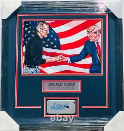 PSA/DNA President DONALD TRUMP Signed Autographed Framed IPHONE withSTEVE JOBS