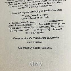 PSA/DNA US President DONALD TRUMP Autographed ART OF THE DEAL Book FIRST EDITION