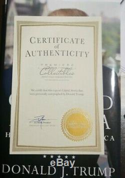 Personally Signed Crippled America Authentic Autograph PRESIDENT Donald Trump