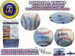 President DONALD J. TRUMP Signed Autographed OML Baseball JSA AUTHENTIC #J36177