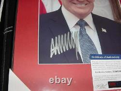 President DONALD TRUMP signed auto MATTED/FRAMED 12X15 photo PSA/DNA portrait
