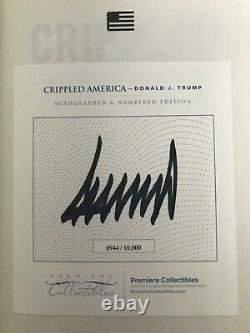 President Donald J Trump Signed Autographed Crippled America Book Premiere COA