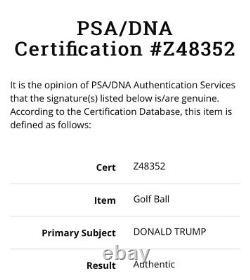 President Donald J. Trump / Stormy Daniels Dual Signed Golf Ball PSA 1/1 HUSH