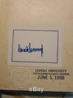 President Donald J. Trump The Art of the Deal, 1987, SIGNED Bookplate