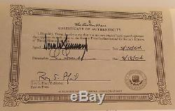 President Donald TRUMP SIGNED Edition How To Get Rich AUTOGRAPH Easton Press COA
