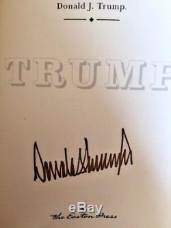President Donald TRUMP SIGNED Edition How To Get Rich Easton Press Like New