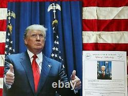 President Donald Trump Authentic Signed Large Poster Size 16 X 20 Color Photo