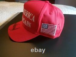 President Donald Trump Autographed MAGA Hat