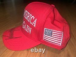 President Donald Trump Autographed Make America Great Again Hat Official