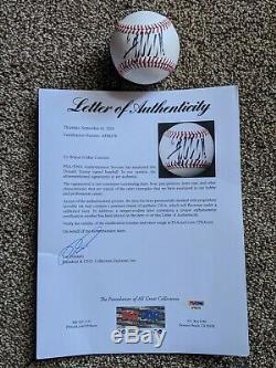 President Donald Trump Autographed OML Baseball SignedPSA/DNA & JSA Hologram