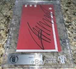President Donald Trump Autographed Signed Cut Beckett BAS Encapsulated