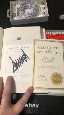 President Donald Trump Crippled America Signed Book Autographed RARE #d Edition