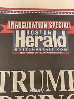 President Donald Trump Hand-signed Boston Herald Newspaper (january 2017)