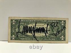 President Donald Trump Hand-signed Dollar Bill