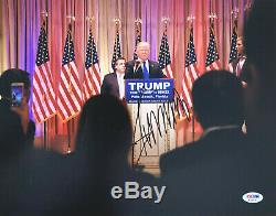 President Donald Trump Signed 11x14 Photo PSA DNA COA