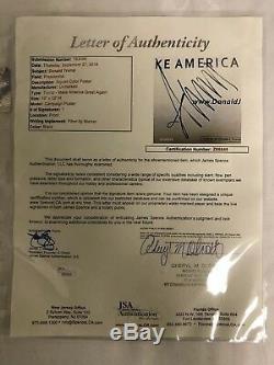 President Donald Trump Signed 13x19 MAGA Campaign Poster JSA Cert Custom Framed