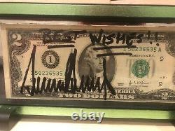 President Donald Trump Signed $2 Bill Full Autograph Maga Enscribed Best Wishes