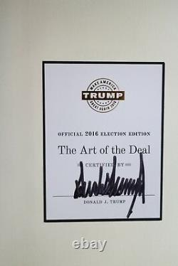 President Donald Trump Signed Art of The Deal Autographed Auto Election Edition