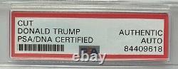 President Donald Trump Signed Autograph 3x5 Cut Signature PSA DNA FREE S&H