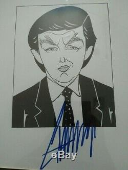 President Donald Trump Signed Autograph UNIQUE art piece with COA from Artist
