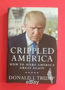 President Donald Trump Signed Book Crippled America With Bas Loa & Photo Proof