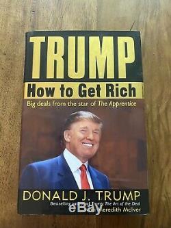 President Donald Trump Signed Book How To Get Rich Beckett Coa Autograph
