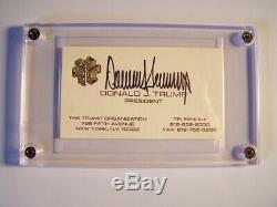 President Donald Trump Signed Business Card Embossed in Gold Leaf RARE Autograph