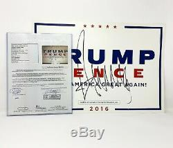 President Donald Trump Signed MAGA Rally Campaign Poster Authentic & Certified