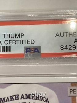 President Donald Trump Signed Rookie Card, Psa/dna Certified, Slabbed, Rare