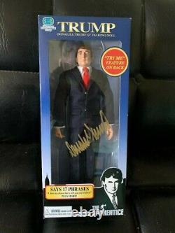 President Donald Trump Signed Talking Doll Rare MIB
