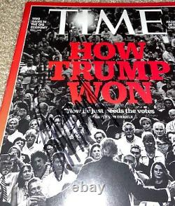 President Donald Trump Signed Time Magazine Maga Potus 2016 Gop Republican Jsa