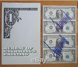 President Donald Trump Signed Uncut Money PSA Autographed Twice (MAGA)