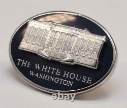 President Donald Trump White House Gift Oval Cobalt Blue Lapel Pin SIGNED