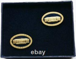 President Donald Trump White House Gift Oval Cobalt West Wing Cufflinks SIGNED