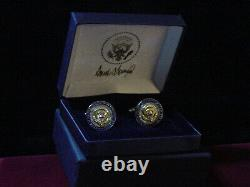President Donald Trump White House VIP Gift Seal Cufflinks SIGNED 2020
