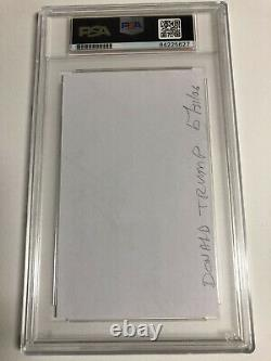 President Donald Trump autograph 3x5 index card PSA/DNA Certified Authentic
