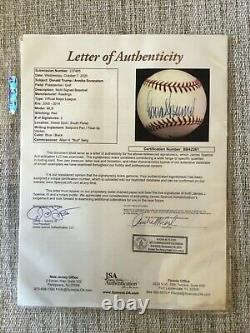 President Donald Trump full signature signed baseball JSA Authenticated