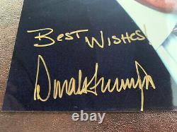 President Donald Trump original autographed 8x10 photo
