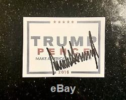 President Trump Signed/Autographed 2016 OFFICIAL Campaign Index Card (4 X 5.5)