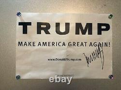 RARE President Donald Trump Signed/Autographed 2016 Campaign Poster SHIPS FREE
