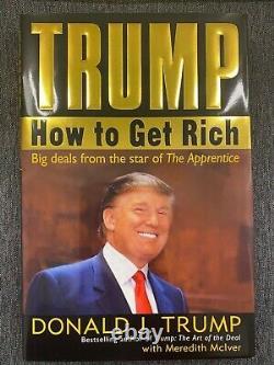 RARE SIGNED President Donald J Trump book Trump HOW TO GET RICH MAGA Autograph