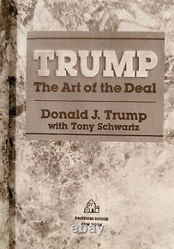 RARE SIGNED President Donald Trump The Art of the Deal 1987 Edition 80's MAGA