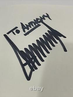 Rare Donald Trump Signed Autographed Crippled America Hardcover Book Psa/dna Coa
