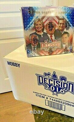 Rare New Decision 2016 Election Hobby Box! Look for Trump Auto Autograph Cards