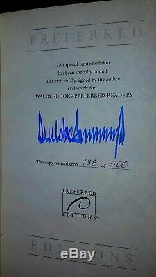 Rare President Donald Trump Autograph Auto Signed 1st Ed. 100% Authentic Le /500