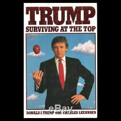 Relist AUTOGRAPHED President Donald J. Trump 1990 SURVIVING AT THE TOP