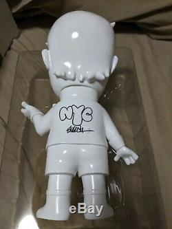 Ron English Grin Donald T Rich Trump Dual Signed Doodled NYC NYCC White Ceramic
