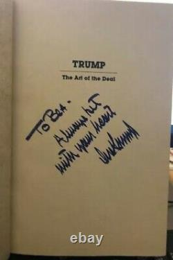SIGNED, 1987 3rd Edition Classic Late 80s Signature Art Of The Deal Donald Trump